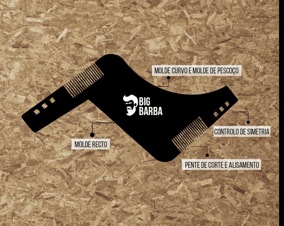 Molde para Barbear Preto - Big Barba