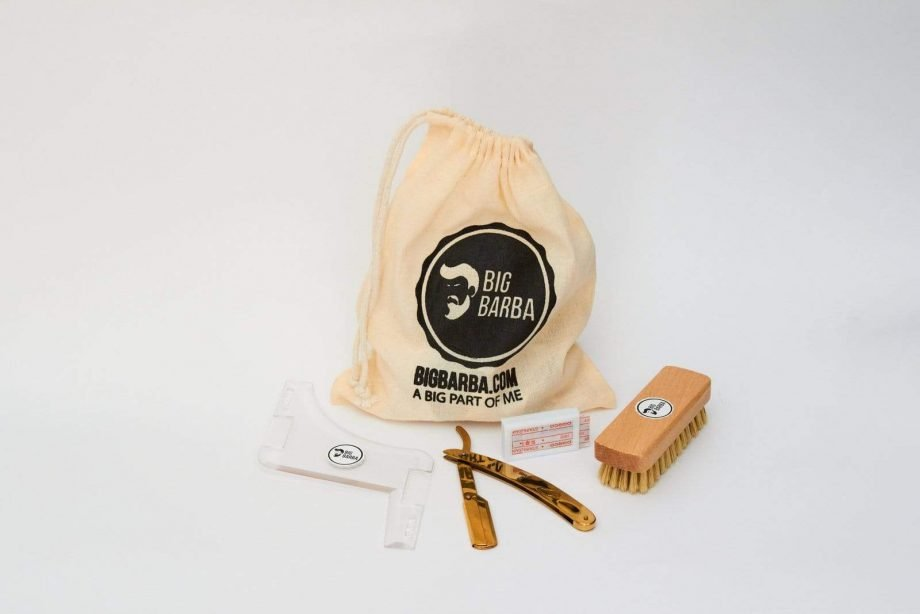 Kit - Navalha Dourada - Big Barba