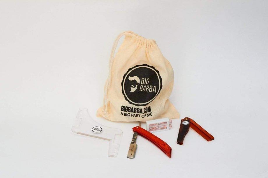 Kit - Navalha Cabo Madeira - Big Barba